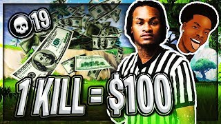 1 KILL = $100 FOR MY LITTLE BROTHER (Fortnite Battle Royal)