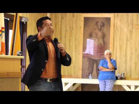 NM Representative Ben Ray  Lujan speaks in Tohatchi, N.M.