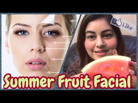 DIY Skin Brightening Fruit Facial at Home for Fresh Glowing Skin | Watermelon Facial for Fair Skin