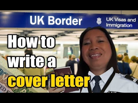 How To Write A COVER LETTER For A Tourist Visa Application