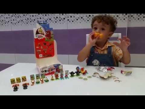 Видео: Ангри бердс Киндер  игрушки распаковка Angry Birds Kinder  toys