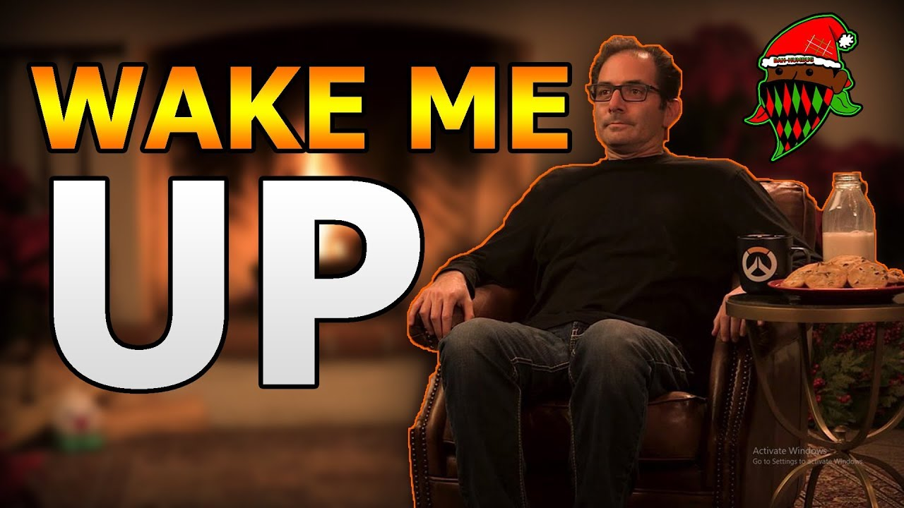 jeff kaplan contemplates a cookie overwatch yule log stream clip