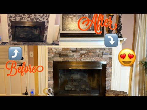 French Country Fireplace Renovation Diy 2019