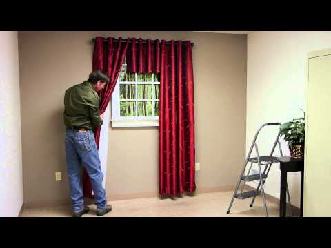 How Far Up From Window Trim Should You Hang Curtain Brackets? : Curtains & Window Decor