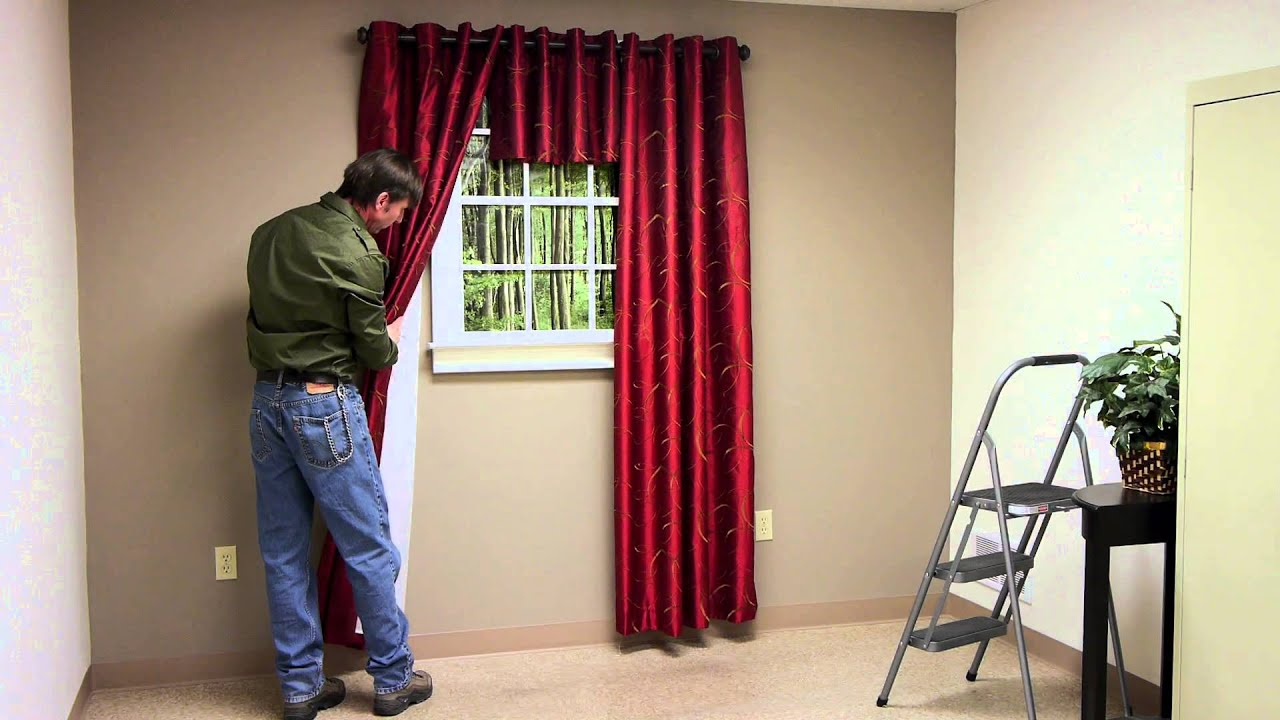 how to hang up curtain rods how far up from window trim should you hang curtain 8674