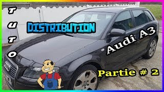 🛠Tuto🛠 Remplacer sa courroie de Distribution Audi A3 2l tdi 140cv Partie# 2