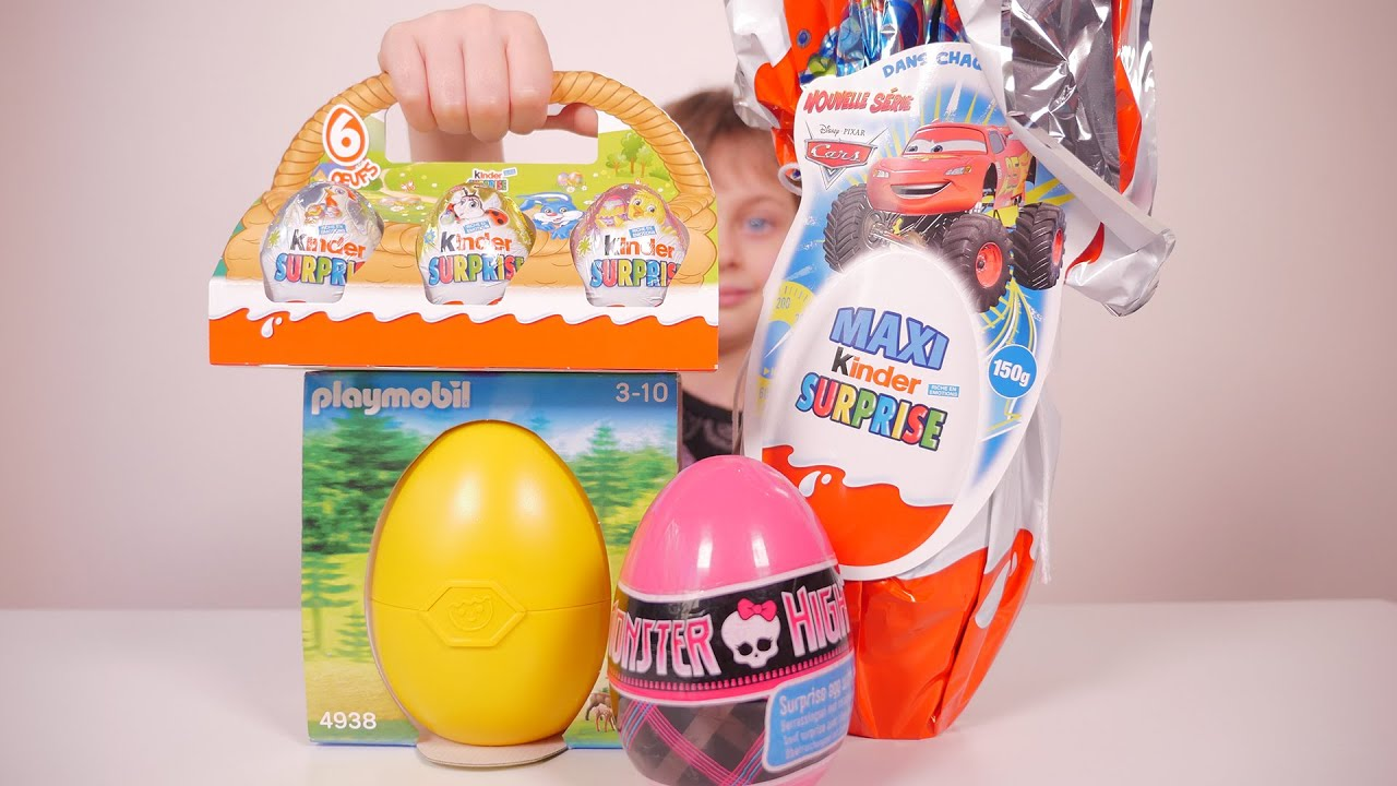 Oeuf Jouet Chasse Aux Oeufs Kinder Surprise Cars Playmobil