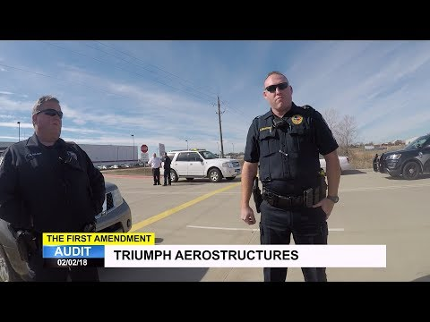 First Amendment Audit  Triumph Aerostructures  Defense Contractor  Red Oak, TX