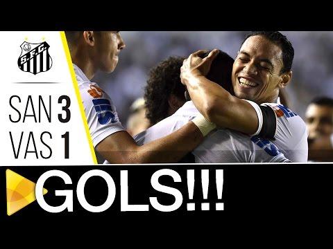 Santos 3 x 1 Vasco | GOLS | Copa do Brasil (24/08/16)