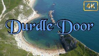 Durdle Door - Dorset - 4k Drone - England -2019- Summer