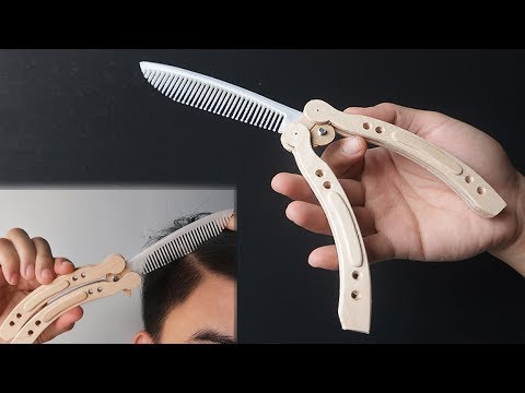 CS:GO inspired Butterfly Knife shaped COMB DIY tutorial