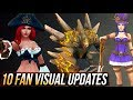 TOP 10 FAN MADE VISUAL UPDATES/UPGRADES/REWORKS Concepts - League of Legends
