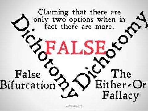 False Dichotomy Logical Fallacy Youtube