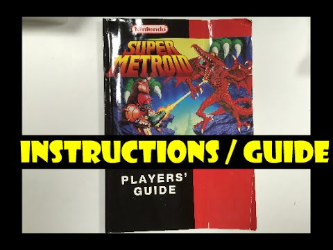 video game instructions snes super metroid 72 page players guide rh youtube com Video Game Instruction Booklets eLearning Video Game