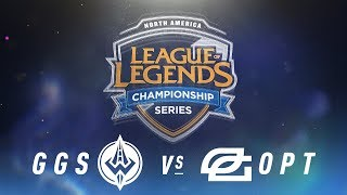 GGS vs. OPT - Week 6 Day 1 | NA LCS Spring Split | Golden Guardians vs. OpTic Gaming (2018)