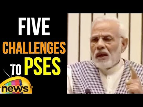 PM Modi Sets Five Challenges To The PSE's For New India | Mango News