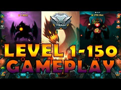 """Xteam - SF Clicker RPG"" Level 1-150 Gameplay / Кликер Икстим прохождение"
