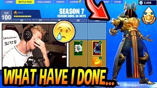 Tfue FINALLY 'BUYS' Le SEASON 7 BATTLE PASS! (MAX NIVEAU NIVEAU 100!) Fortnite FUNNY - Moments EPIC