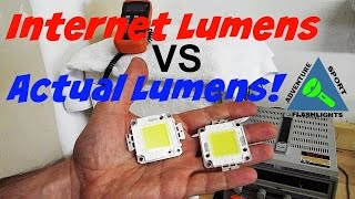 Internet Lumens vs Actual Lumens, and the 100 watt LED test