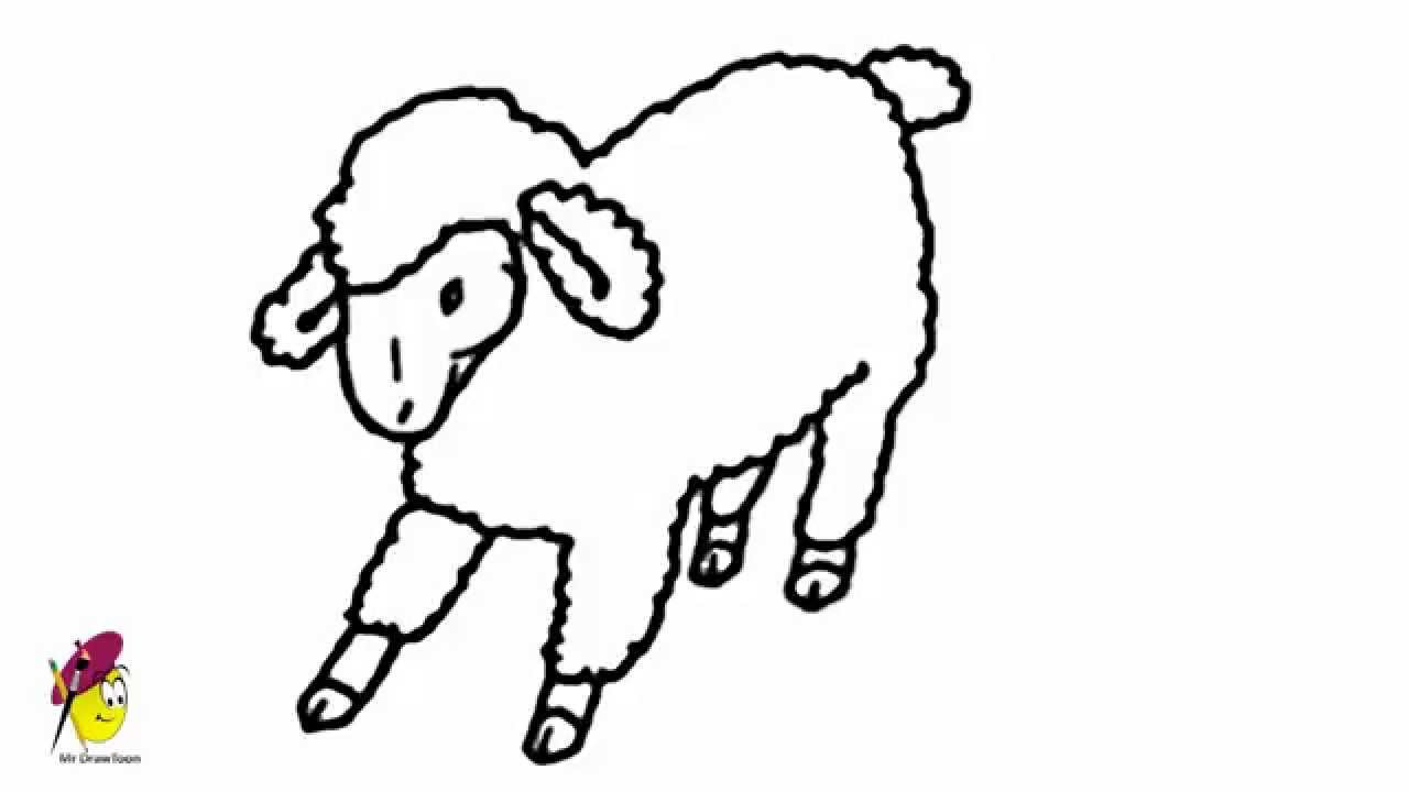 Farm Sheep How To Draw A Sheep Farm Animals Easy Drawing Youtube
