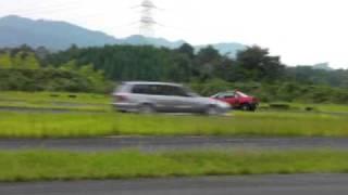1本クヌギ スカG インプ AZ-1 ワゴン 激走