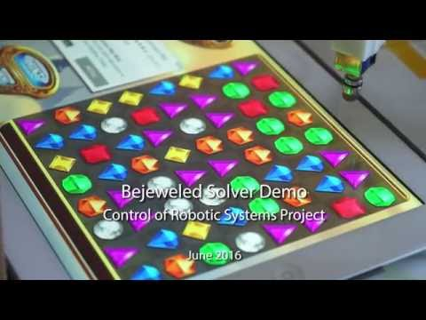 Robot playing Bejeweled
