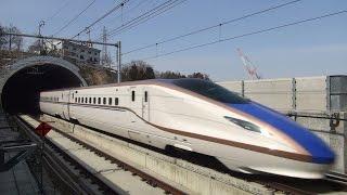 北陸新幹線 E7系・W7系かがやき 迫力の高速通過映像集 Shinkansen passing thumbnail
