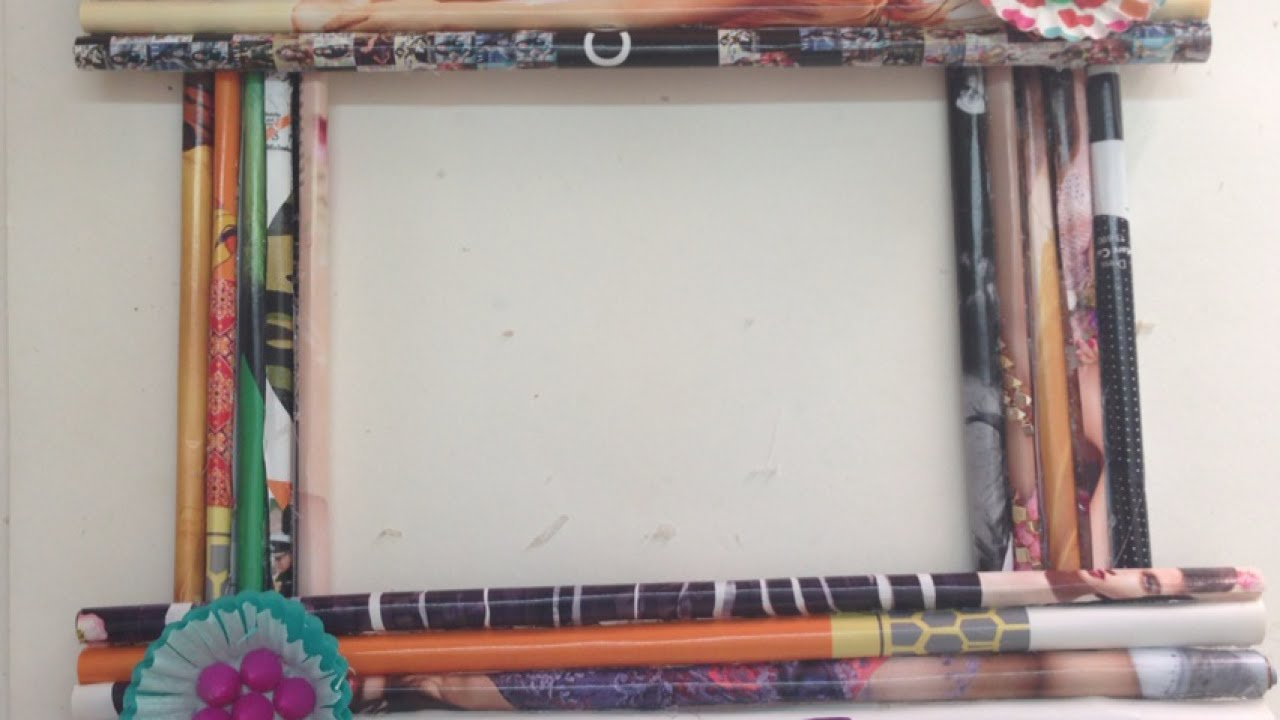 How To Make A Handmade Paper Picture Frame | Viewframes.org