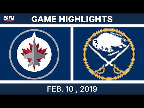 NHL Highlights | Jets vs. Sabres - Feb 10, 2019