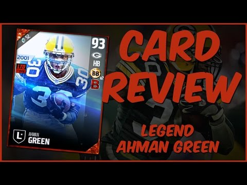 MUT 17 Card Review | Legend Ahman Green Gameplay + Card Review
