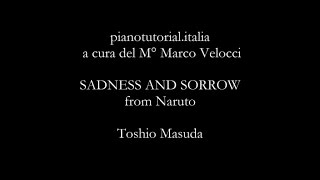 SADNESS AND SORROW from Naruto - Piano version - Piano bases collection (pianotutorial.italia)