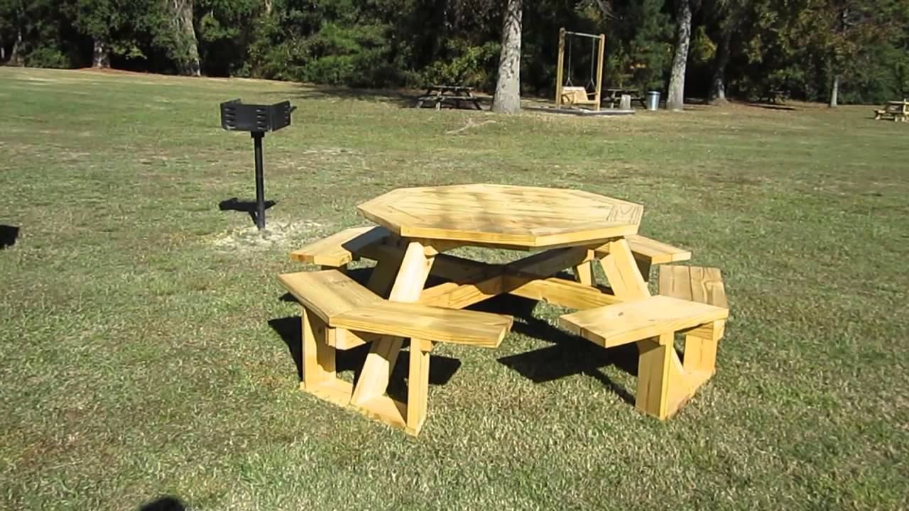 New Octagonal Picnic Tables At Cheraw State Park South