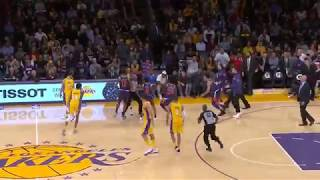 Lakers vs Suns Fight Gets Some Refs Tossed Around