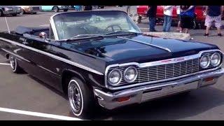 Bad ass black Uce 1964 Chevy Impala Super Sport convertible lowrider. Washington State.