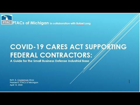 Butzel Long Webinar: COVID 19 CARES Act Supporting Federal Contractors 20200415