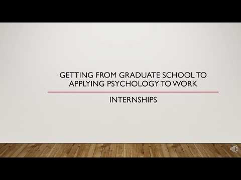 Internships for Industrial-Organizational Psychology Students