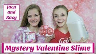 Mystery Valentine Slime Challenge ~ Jacy and Kacy