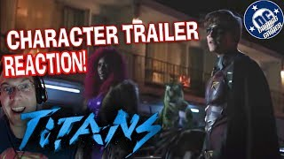 TITANS Characters Trailer REACTION!