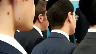 Yeshiva Of Philadelphia Singing National Anthem At Graduation