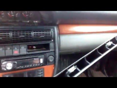Снятие приборной панели Audi 100 с4