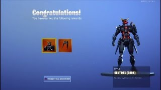 * UNLOCKING* Die Tier 99 Dark Sentinel Hautstil in Fortnite...