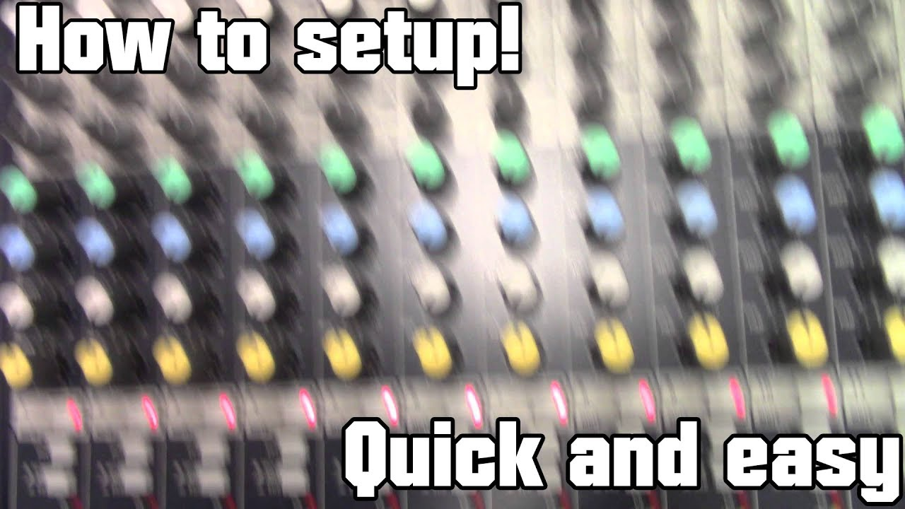 How to setup a mixer, eq, mic, and phone audio to stage speakers