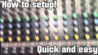 How to setup a mixer, eq, mic, and phone audio to stage speakers.