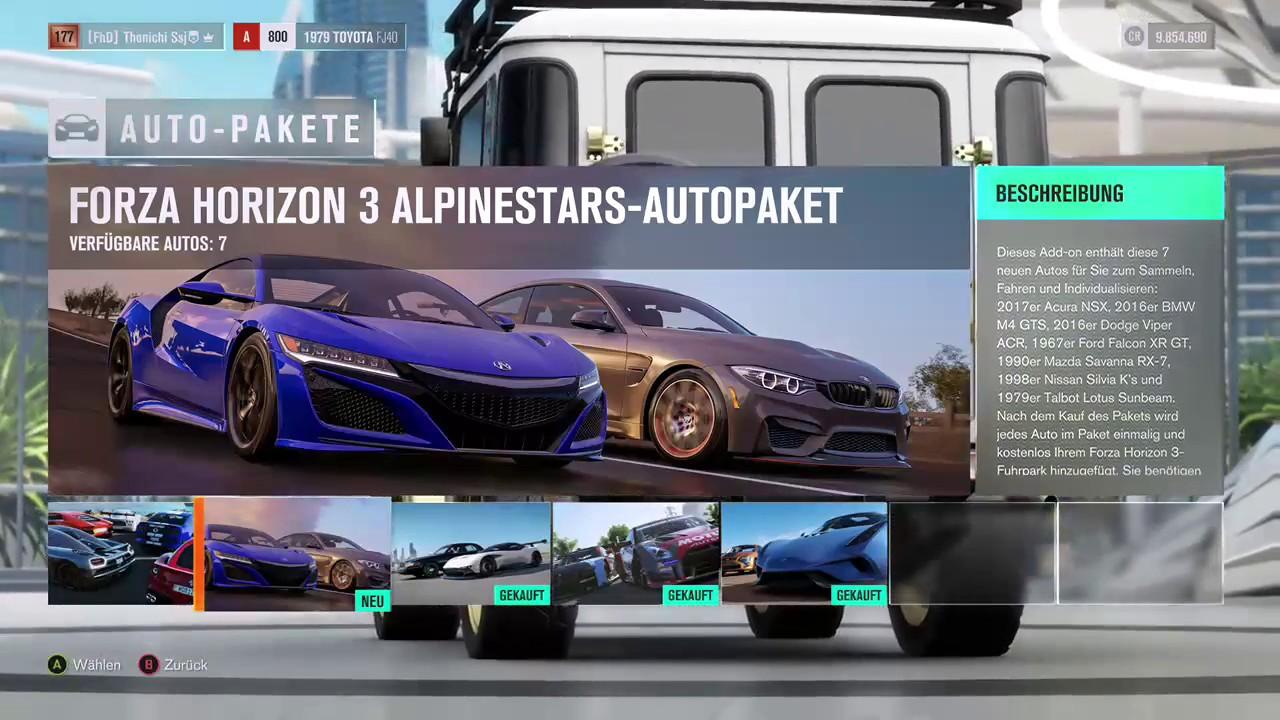 Forza Horizon 3 : #4 Alpinestar Autopaket und Blizzard Mountain ...