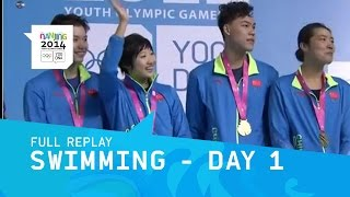 Swimming - Day 1 Evening Session | Full Replay | Nanjing 2014 Youth Olympic Games