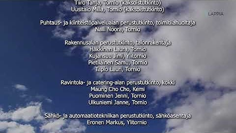 Ammattiopisto Lappia - Virtuaaliset valmistujaiset 2020