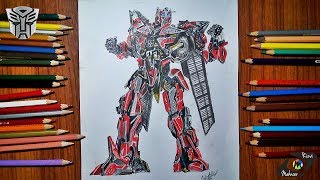 Drawing Sentinel Prime Ep 1 | Transformers Week | Drawing Lapse | Mahnoor Rizvi