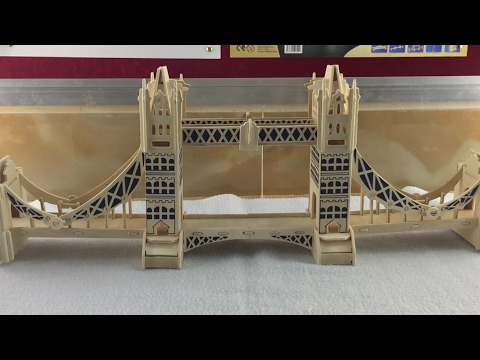 3D Wood Craft Construction Kit, How to make wooden London tower bridge