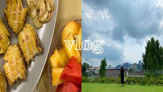 VLOG / 집에서 하는 간단한 전복요리, 짧은 여름 …