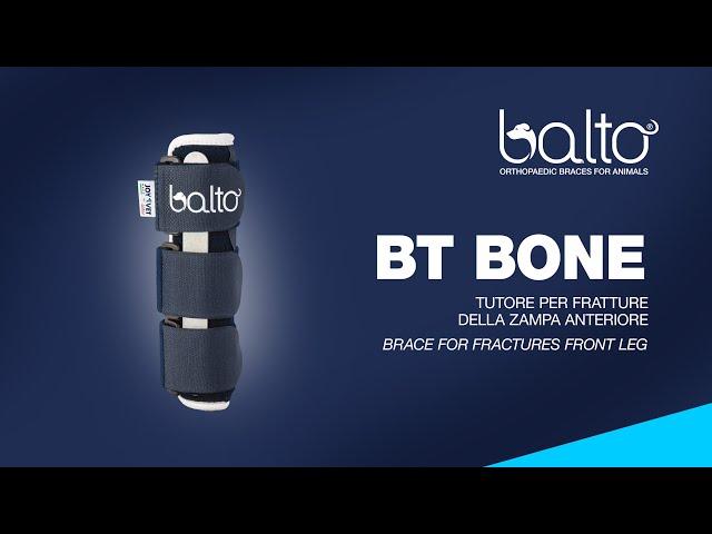 BT BONE - Tutore per fratture della zampa anteriore - Brace for fractures front leg
